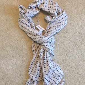 Accessories - NWT Anchor Scarf, White with Navy Anchors